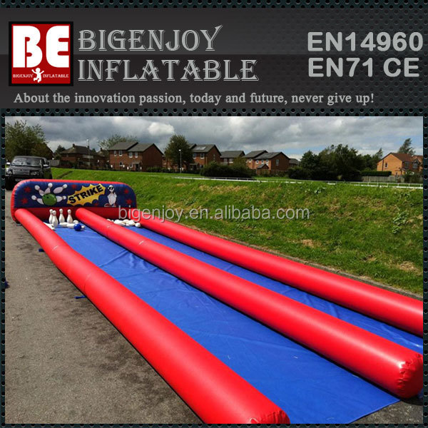 Outdoor sport game inflatable 10 pin bowling alley