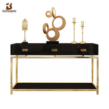 Living room light luxury custom table cabinet furniture stainless steel italian hobby lobby console table