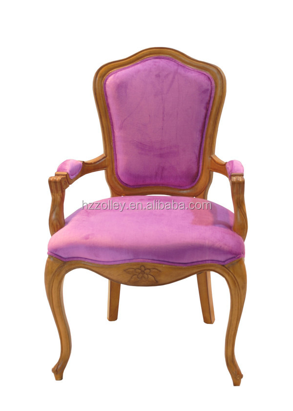 Luxury carved wood dining chairs/living room chairs rattan furniture