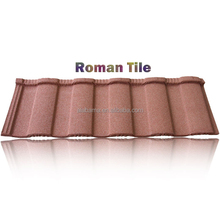 15 optional colors stone coated metal roof tile, decramastic roof tiles, bent tiles type zink roof tiles