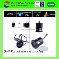 Carsun mini hidden waterproof car rear view camera, reverse car camera with bracket night vision for all the cars