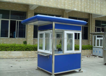 Single persone space portable security booth / prefabricated sentry box / security guard booth