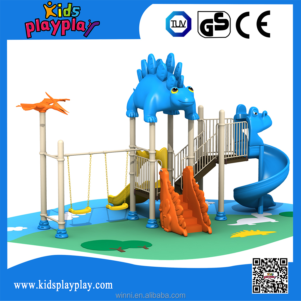 2017 outdoor playground slide use PE environmental friendly material