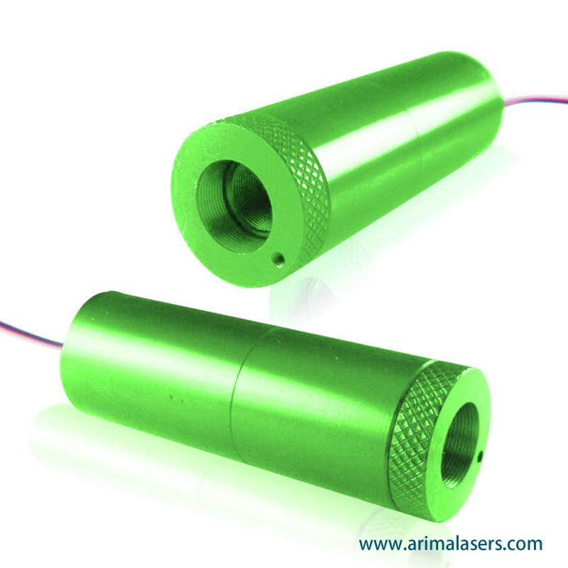 520nm 15mW 3V D20mm Green Laser Diode Module, Adjustable Focus Green Laser Module for Green Laser Pointer, Lighting
