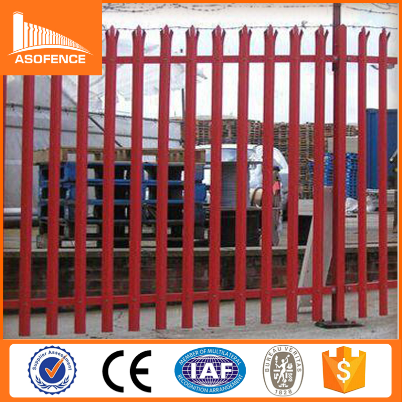 hot sales & high quality & reasonable price PVC coated palisade fence