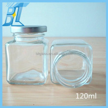 square glass jars and lids, 100ml glass jar with screw top lid