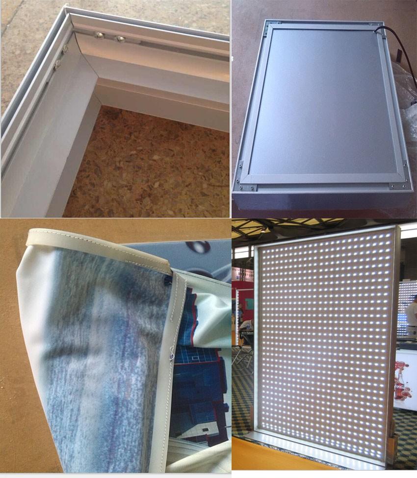 outdoor aluminum frame snap open flex banner light box