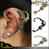 Vintage Gothic cheap punk pterosaur ear cuff wrap clip earring jewelry dragon cheap ear cuff