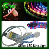 rechargeable USB led solar micro led string lights for shoes, 3528 waterproof strip light rgb