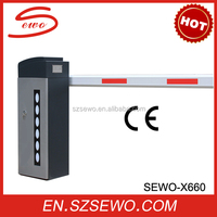 Led Light Heavy Duty Parking Entrance Automatic Barrier Gate with Single Bar
