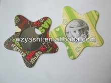 Eco-friendly kid's picture frame star shape fridge magnet