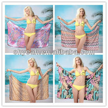 Wholesale and retail full size various colors stock available ladies open back bikini wrap