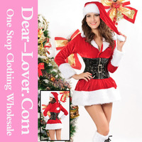 Customized 2015 Fashion sexy farm red sex santa claus sexy girls costume