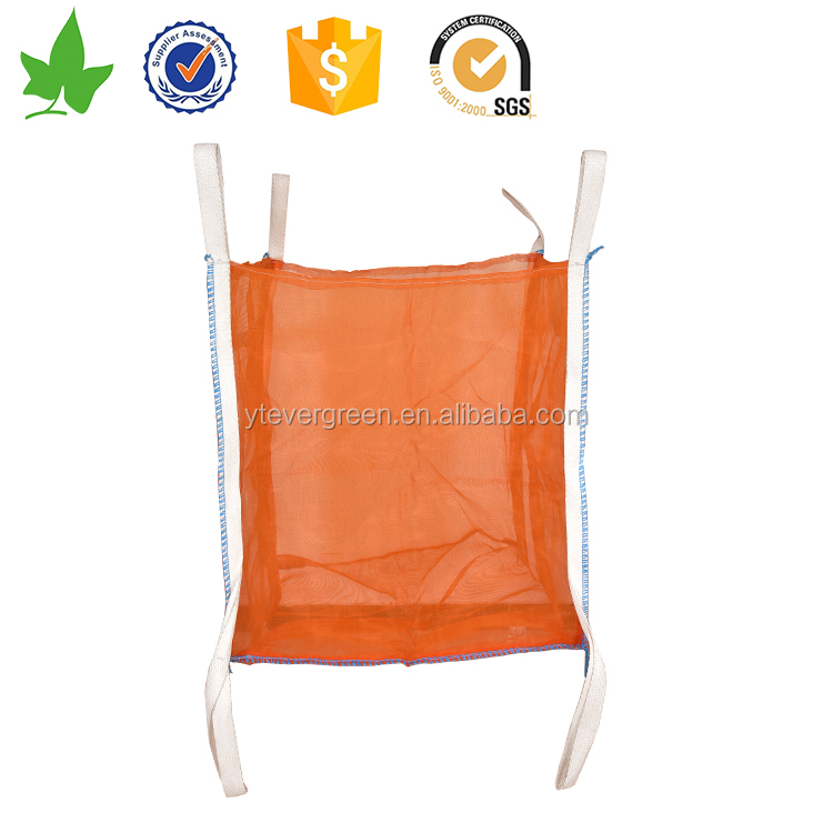 Breathable Feature and Flat Bottom Bottom Option (Discharge) pp jumbo cargo bags/ton bags/four panel bulk bag