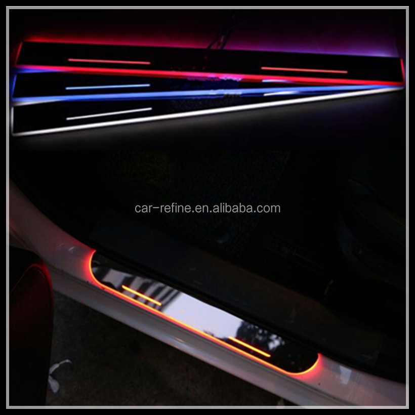 LED door sill plate for LEXUS IS ES 2013-2015 LED welcome moving door sill scuff plate light for Lexus