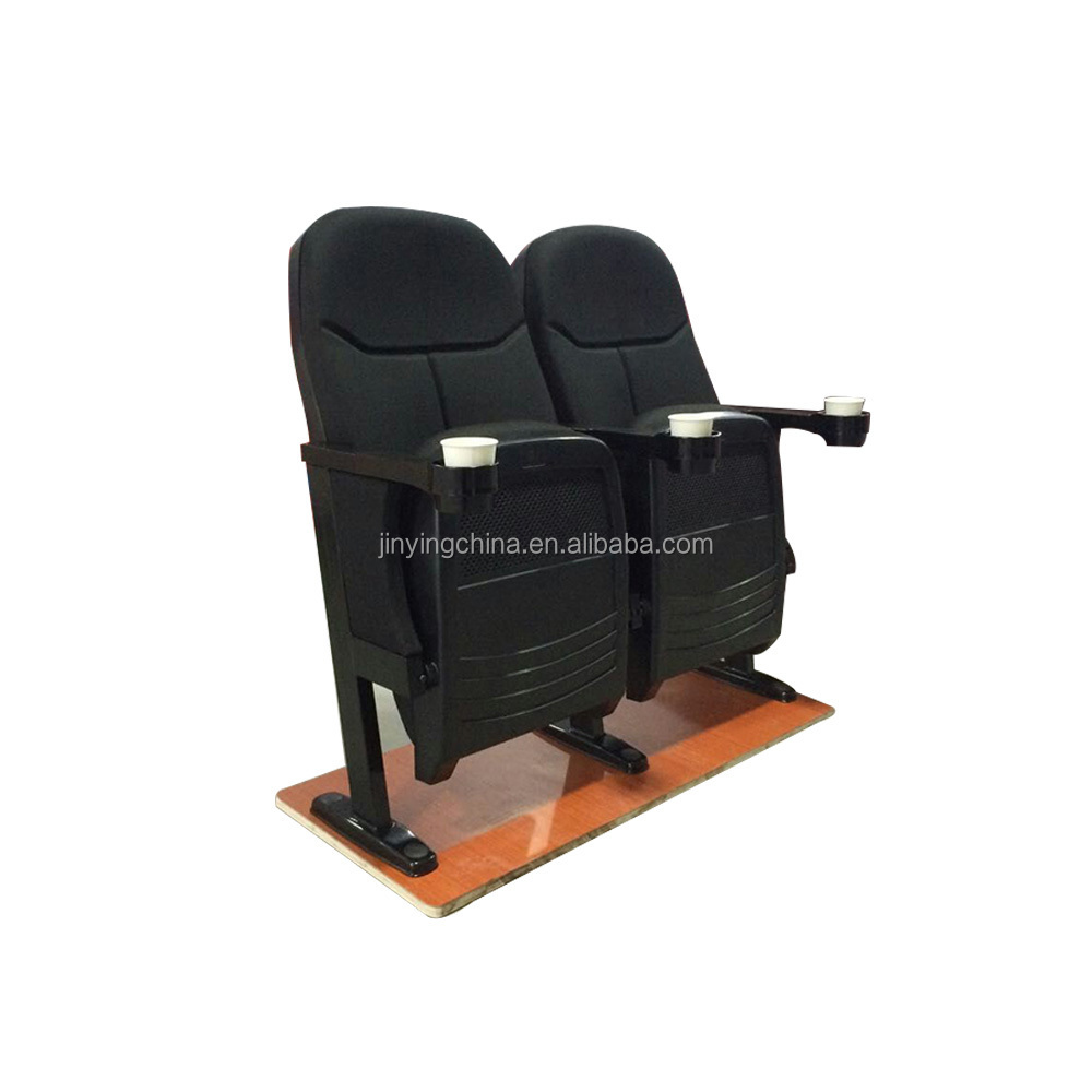 Easy to clean maintenance, durable fixed foot cinema chairs
