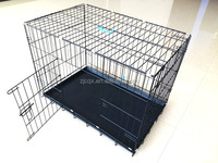 high quality popular plastic powder coated foldable dog crate house