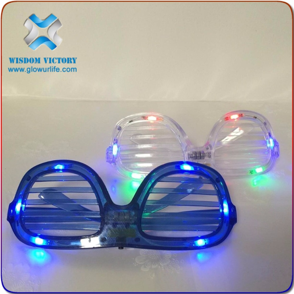 Wholesale LED Flashing Footbal Party Sunglasses,Light up soccer sun glasses led spectacles