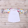 baby girl wholesale icing ruffle raglan floral t shirt