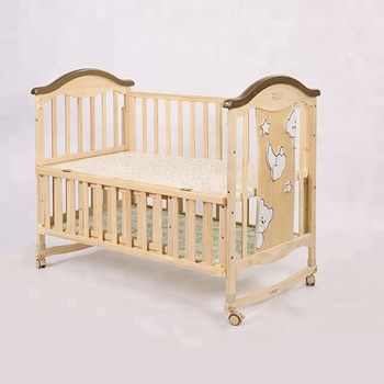 Crib mobile wooden /antique wooden cradle/baby cradle with wood stand