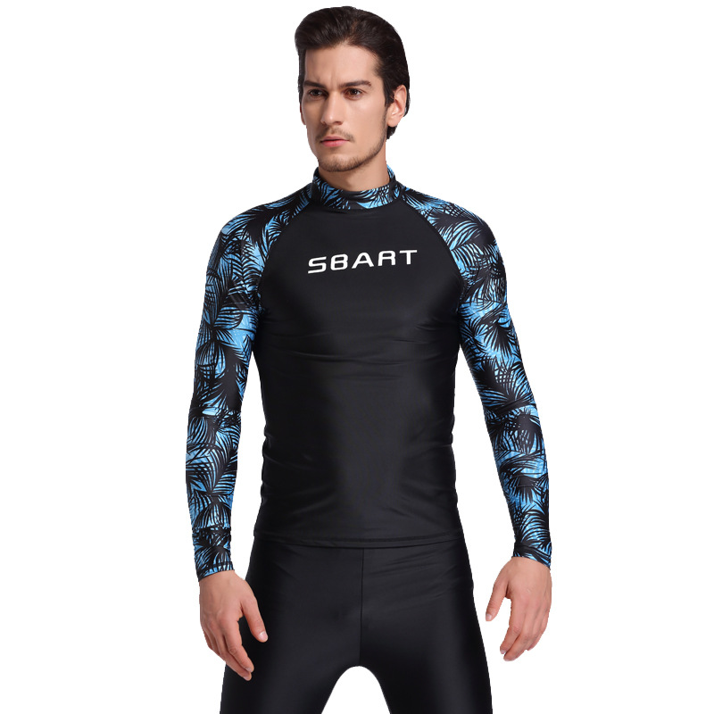 OEM mens long sleeve sublimation printed rashguard upf 50+ anti-jellyfish scuba diving suit swimming t shirt