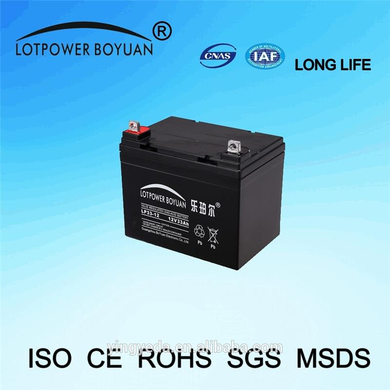 replacement ups batteries recharge high voltage battery solar 12v 33ah battery with full certificate