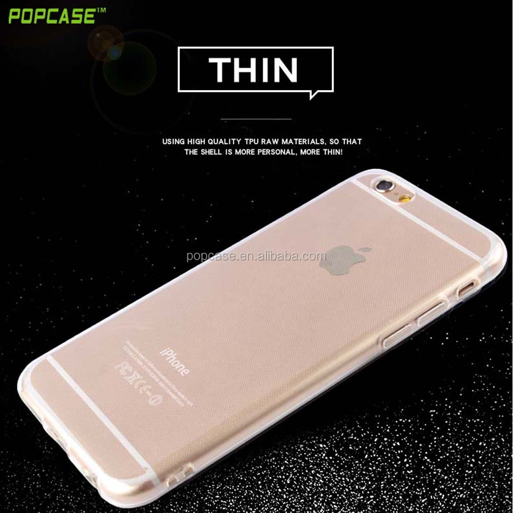 Hot Selling 2016 Super Thin Clear TPU Phone Case for Iphone 6