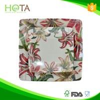 020106 HOTA plate disposable Custom Flower design Paper Plate Wholesale