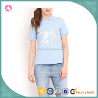 The top selling comfortable cotton casual and comfortable light blue polo shirt