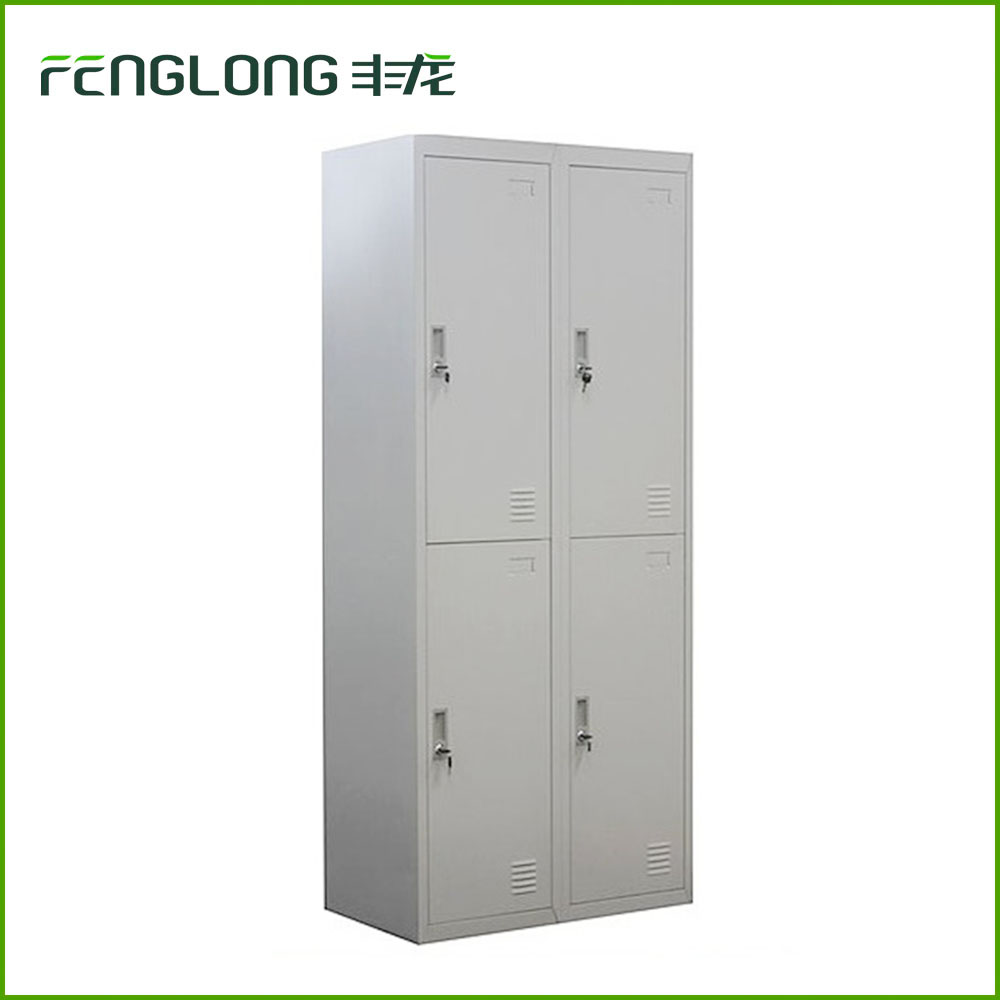 full size 4 door closet 4 tie steel locker customized hanging rod metal cabinet