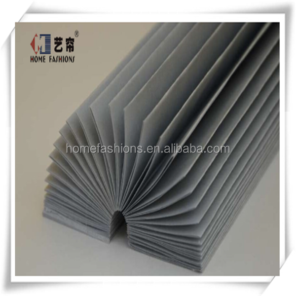 Yilian Hot Selling Polyester Fabric Pleated Blinds