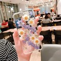 Eternal flower daisy silicone crystal clear phone cover case for apple