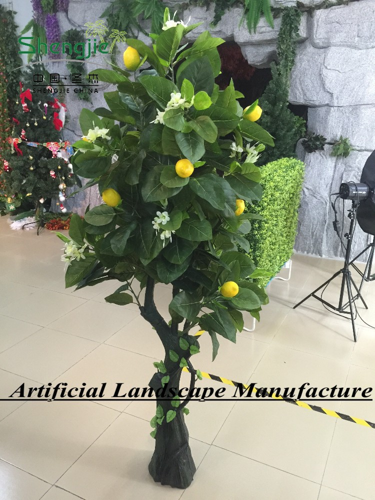 SJ10#180762 indoor artificial lemon tree bonsai ,2015 new arrival and high simulation tree GuangZhou