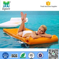 Plastic inflatable air mat/mattress chair/float floating for wholesales