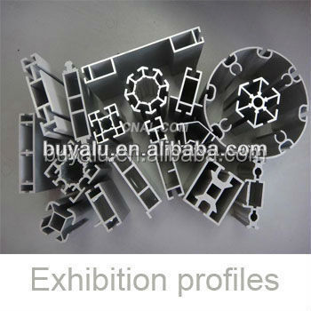 Aluminium industrial profile in anodized color