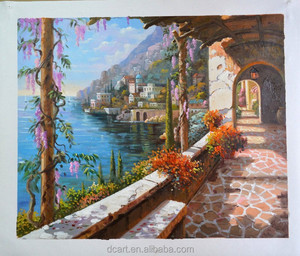 Stock paintings for sale mediterranean handmade beautiful scenery oil painting on canvas