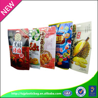 accept custom snack plastic bag food grade zipper seal plastic bag