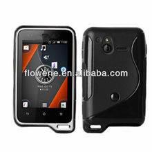 FL2318 2013 Guangzhou hot selling S line soft tpu back case for sony Xperia active st17i