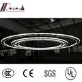 Customized Crystal Rings LED cricle Pendant Lamp For Project