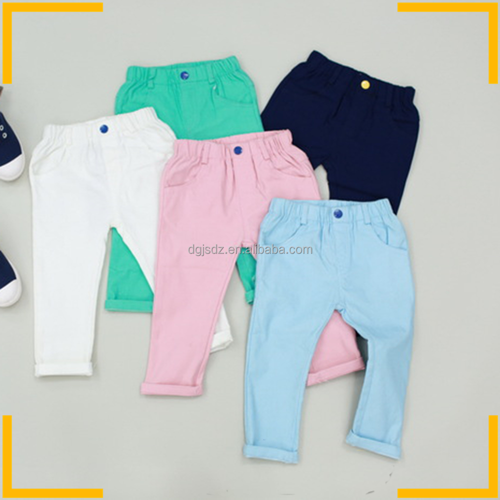 Autumn designs kids fashion stretch fabric pants jean long for Children s jersey fabric