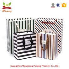 Machine make custom fancy paper gift bag with logo print and handle