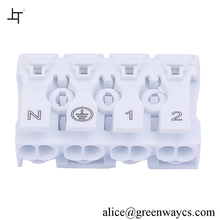 Greenway 4 Poles plastic square tube connector For Junction Box 863-4
