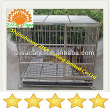Zisa high quality stainless steel foldable dog cage
