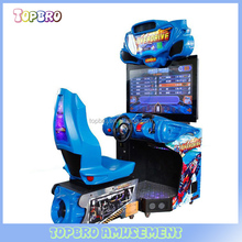 Indoor amusement Outrun electronic video game car racing machine hoVideo game machine arcade game machine for car racing for fun