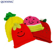 Acrylic knitted funny beanie with fleece lining winter hat