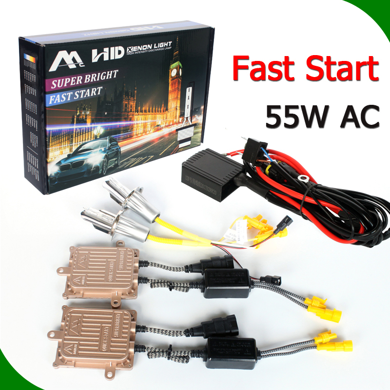 fast bright auto <strong>hid</strong> ballast replace f5 <strong>hid</strong> <strong>xenon</strong> golden ballast <strong>kit</strong> 55 watt super bright ac 55w fast start ballast