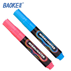 fluorescent water color glitter markers , plastic highlighter