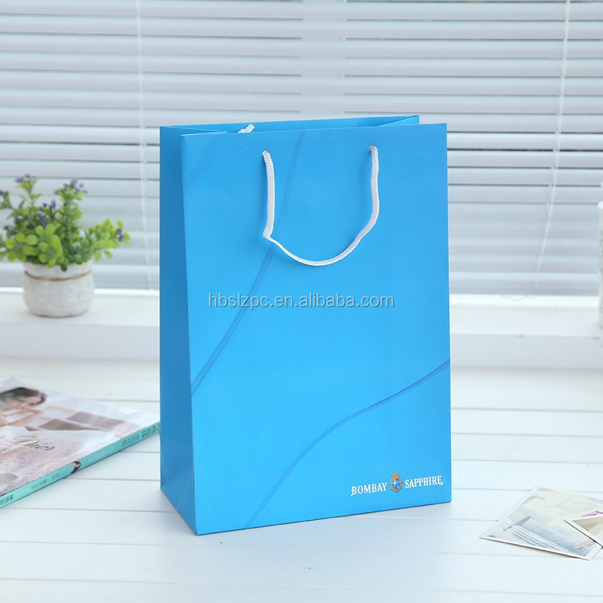large blue drawstrings Pen Ink with Gift Bag paper shopping gift bag