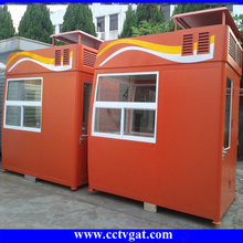 Smart colour Guard House Prefabericated Small Booth With High Quality for outdoor street