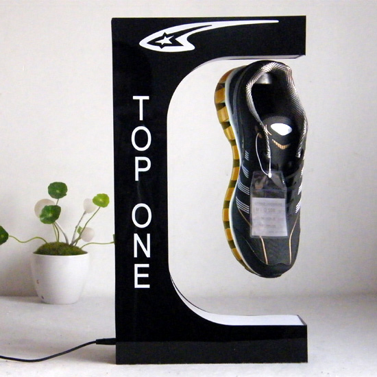 Hot Selling Magnetic Levitation Shoe Display Stand With LED Light